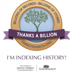 Billions Badge from Family Search